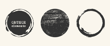 Grunge circle shapes. Abstract vector illustration eps10 Ilustrace