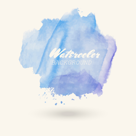 blue purple watercolor background. Abstract vector illustration eps10