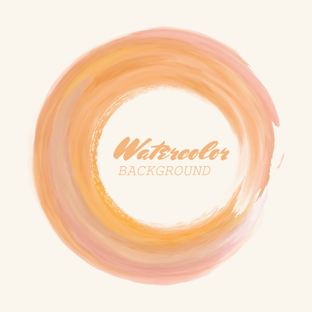 Watercolor texture. Ink round stroke on white background. Simple style. Vector illustration of grunge circle stains.