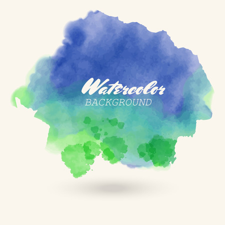 blue green watercolor background. abstract vector illustratiom