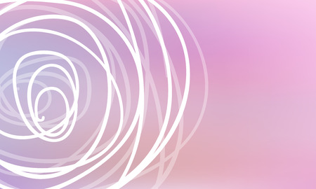 Pastel color vector abstract doodle background. Circle doodles elegant pattern with blur gradient. The pattern can be used for wallpapers and coloring books, banner or poster
