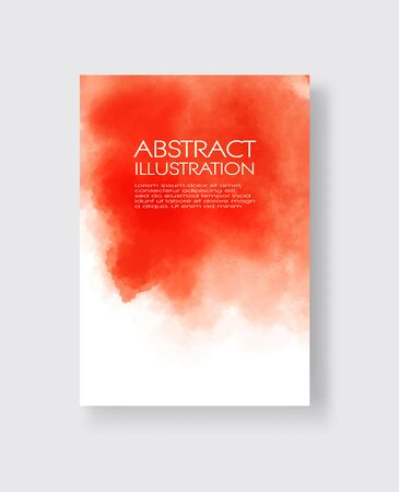 Bright red textures, abstract hand painted watercolor banner, greeting card or invitation templates, vector illustration. Ilustrace