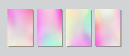Screen gradient set with modern abstract backgrounds. Vector Illustration