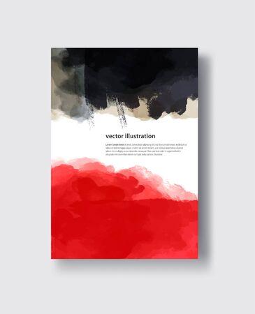vector black ink brush stroke. Abstract vector illustration.