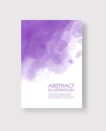 Bright blue textures, abstract hand painted watercolor banner, greeting card or invitation templates, vector illustration.