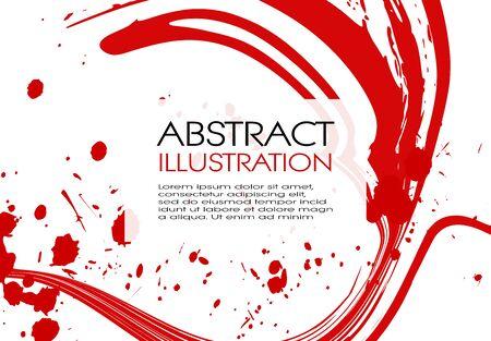 ink brush stroke background. Japanese style. Vector illustration of grunge stains