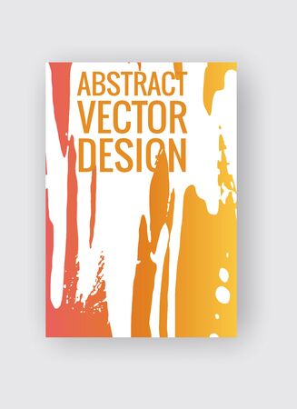 Abstract poster templates. Colorful gradient threads composition. Abstract vector banner illustration.
