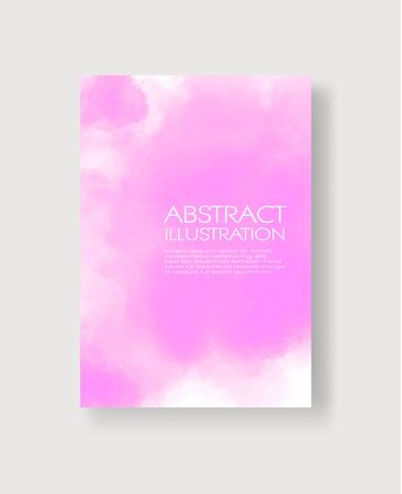 Watercolor color design banners. Abstract vector illustration