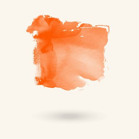 Abstract coral watercolor element for web design. Vector illustration. Reklamní fotografie - 138196615