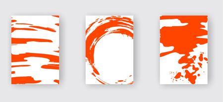 Lush Lava ink brush stroke on white background. Japanese style. Vector illustration of grunge wave stains.Vector brushes illustration.