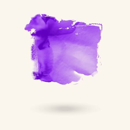 Abstract purple watercolor element for web design. Vector illustration. Banque d'images - 138353740