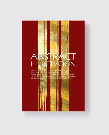 Vector Red and Gold Design Templates for Brochures, Flyers, Mobile Technologies, Applications, Online Services, Typographic Emblems, , Banners and Infographic. Golden Abstract Modern Background.