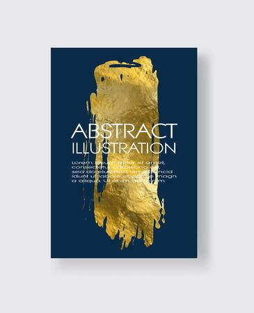 Vector Blue and Gold Design Templates for Brochures, Flyers, Mobile Technologies, Applications, Online Services, Typographic Emblems, , Banners and Infographic. Golden Abstract Modern Background.