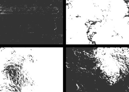 Collection grunge textures. Abstract vector backgrounds set. Dirty and grungy paint on old wall vector illustration.