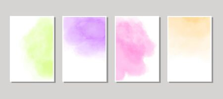 Set of cards with  blots. Set of cards with  blots element on white background for your design. Design for your date, postcard, banner . Vector illustration. Ilustração