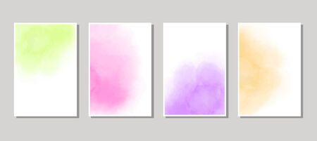 Set of cards with  blots. Set of cards with  blots element on white background for your design. Design for your date, postcard, banner. Vector illustration.