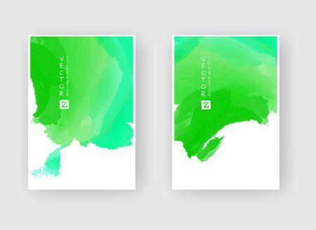 Set of cards with  blots. Set of cards with blots element on white background for your design. Design for your date, postcard, banner, . Vector illustration. Ilustração