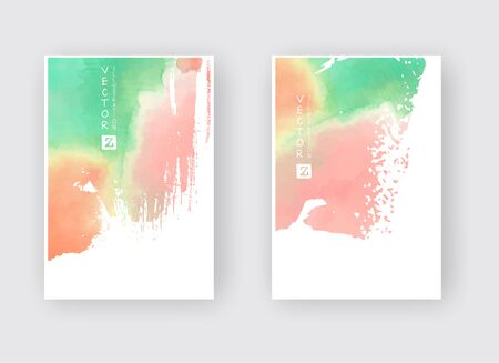 Set of cards with  blots. Set of cards with  blots element on white background for your design. Design for your date, postcard, banner, . Vector illustration.