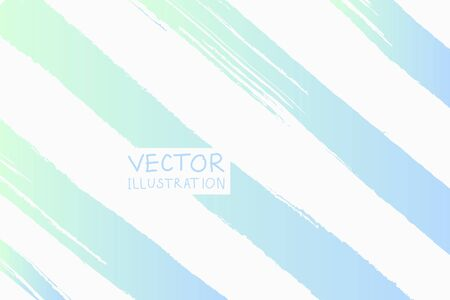 Soft color grunge strip brush strokes with gradient on a light background. Abstract vector illustration.