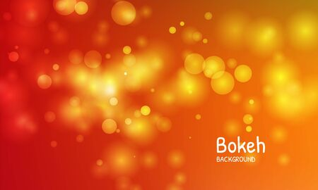 Gold autumn color background. Blur bokeh light effect. Abstract vector illustration