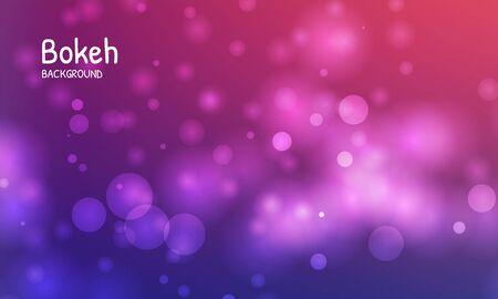 Blue color background. Blur bokeh light effect. Abstract vector illustration Illustration