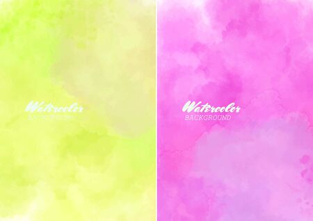 Hand painted watercolor clouds texture. Abstract watercolor background. Vector illustration