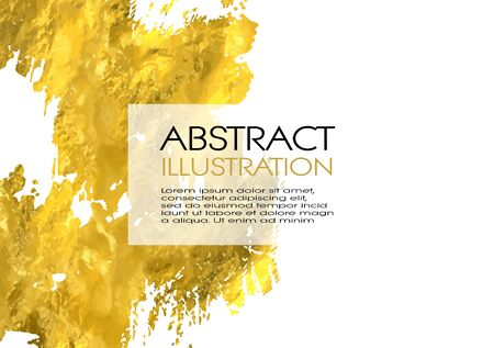 Vector White and Gold Design Templates for Brochures, Flyers, Mobile Technologies, Applications, Online Services, Typographic Emblems, , Banners and Infographic. Golden Abstract Modern Background. Illustration