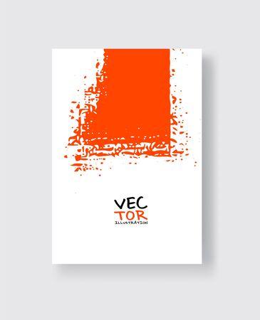 Lush Lava ink brush stroke on white background. Minimalistic style. Vector illustration of grunge element stains.Vector brushes illustration.