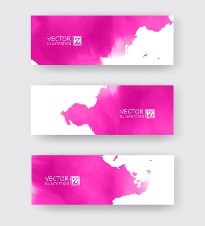 Banners with abstract color ink element wash painting element in East Asian style. Traditional Japanese ink painting sumi-e. Hieroglyph - clarity. Vector Illustration