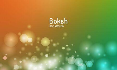 Gold autumn color background. Blur bokeh light effect. Abstract vector illustration Ilustración de vector