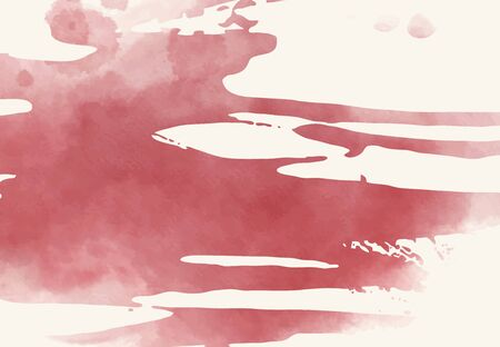 Abstract watercolor brush element on white background. The color splashing in the paper. Abstract hand drawn illustration. Illustration