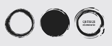 Set of grunge vector round and circle. Grunge background. Abstract retro background. Vintage vector backgrounds. Design elements. Texture background. Abstract shapes vector pack