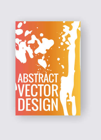 Abstract poster templates. Colorful vector threads composition. 向量圖像