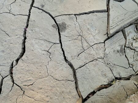 rough: Top view of crack dried soil. Stock Photo