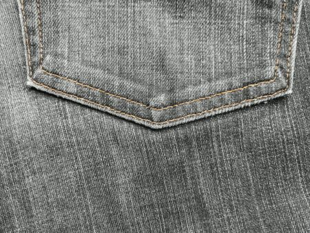 Close up of denim jeans with the seam of pocket texture.