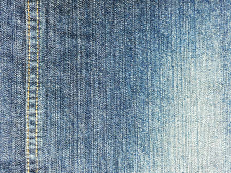 denim jeans: Closeup dirty denimjeans with seam texture. Stock Photo