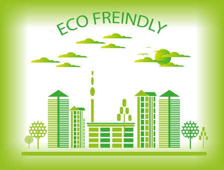 Eco city background