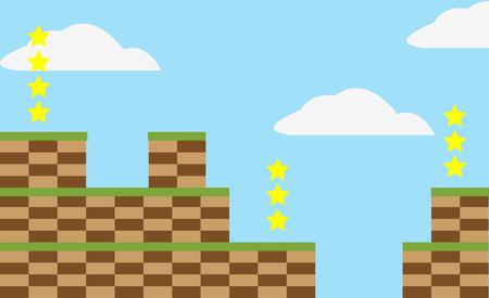 a level: Game level background Illustration