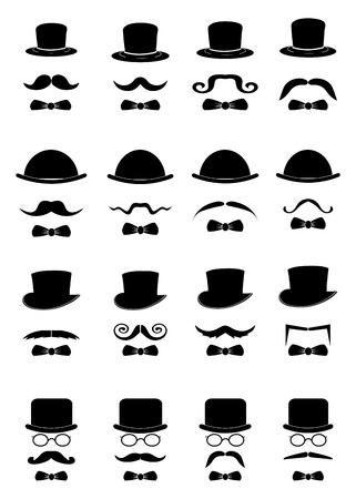 Gentleman icons set