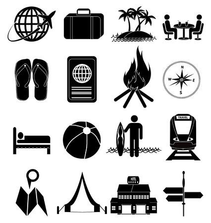 Hotel tavel icons set