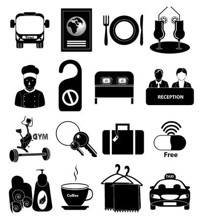 Hotel icons set Banco de Imagens - 37424745