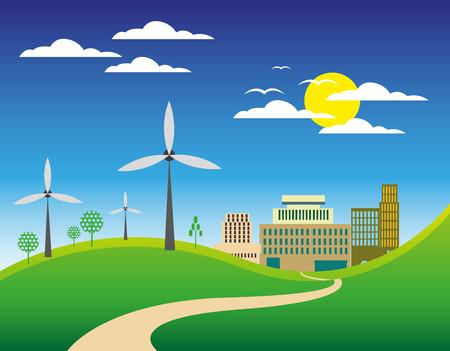 city background: Green city background