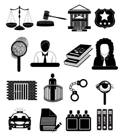 법정과 판사 일러스트