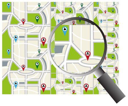 map search background Ilustração
