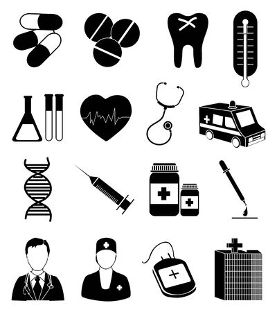 의료 의료 아이콘을 설정