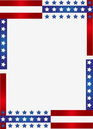 애국적인 프레임 배경 스톡 콘텐츠 - 37451242
