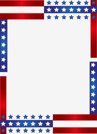 Patriotic frame background Фото со стока - 37451242