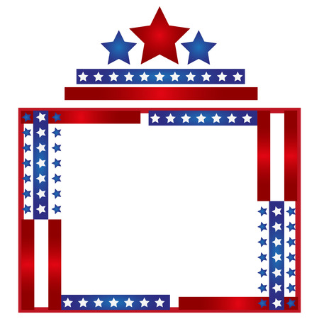 patriotic: Patriotic frame background