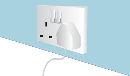 Wall plug background
