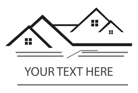 real estate sign: Real estate Illustration